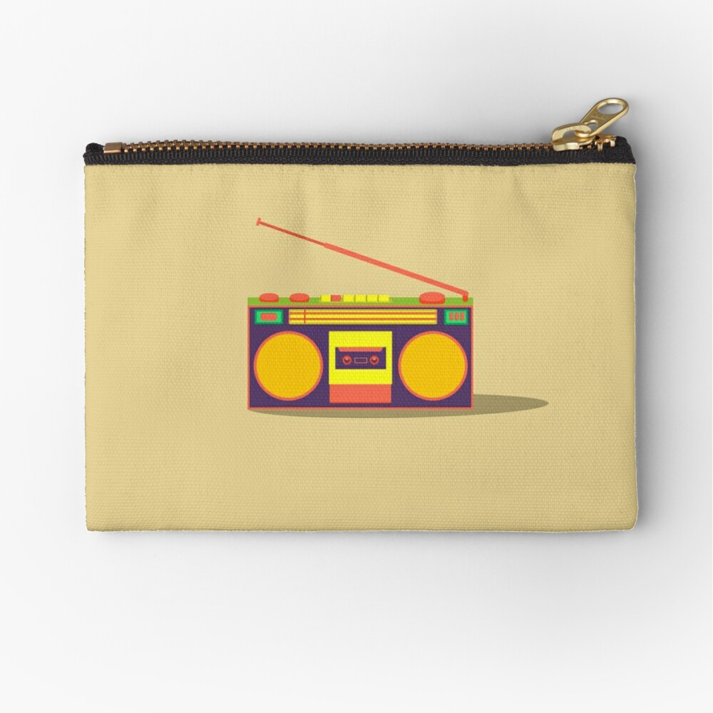 boombox - old cassette - Devices Zipper Pouch