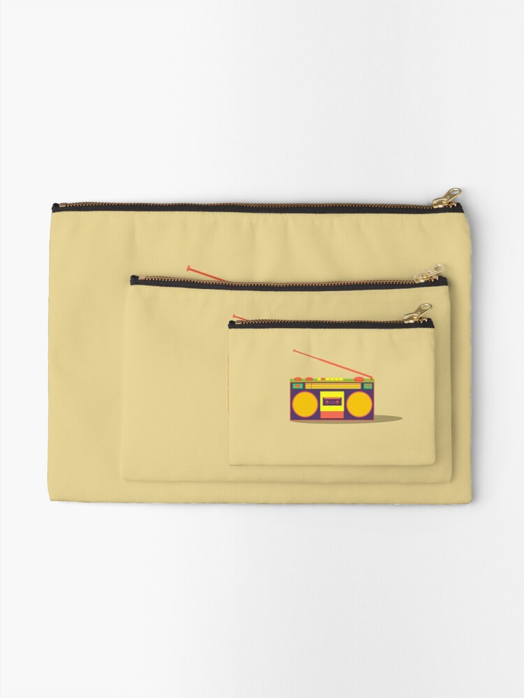 Alternate view of boombox - old cassette - Devices Zipper Pouch