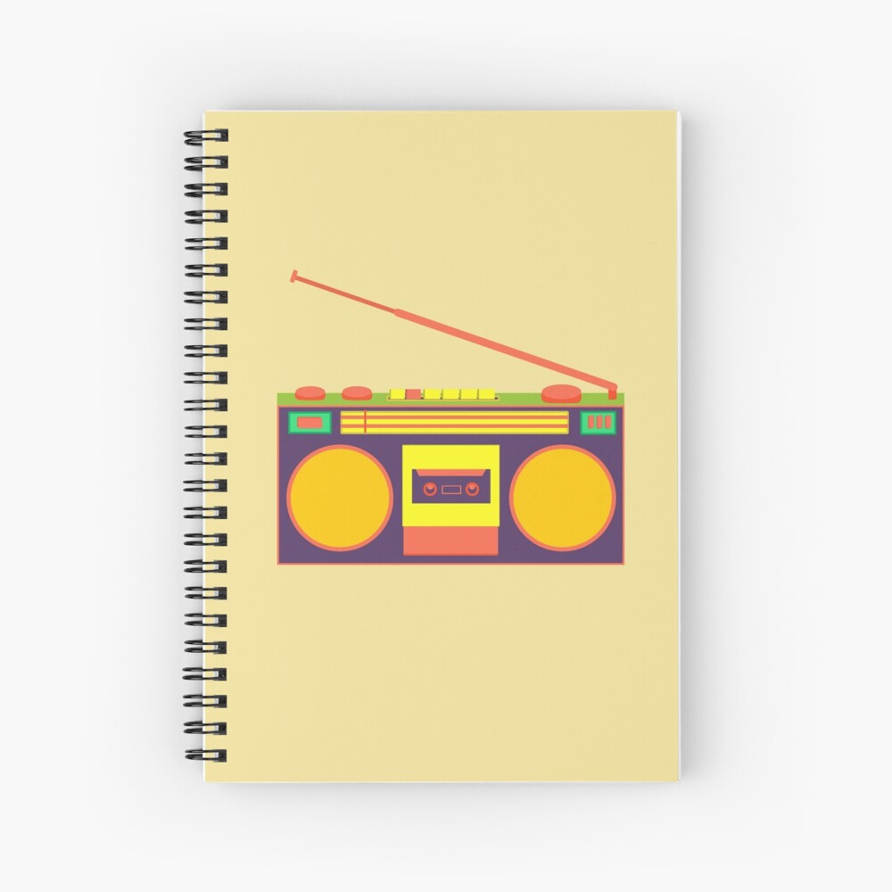 boombox - old cassette - Devices Spiral Notebook