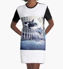 City of whales Graphic T-Shirt Dress