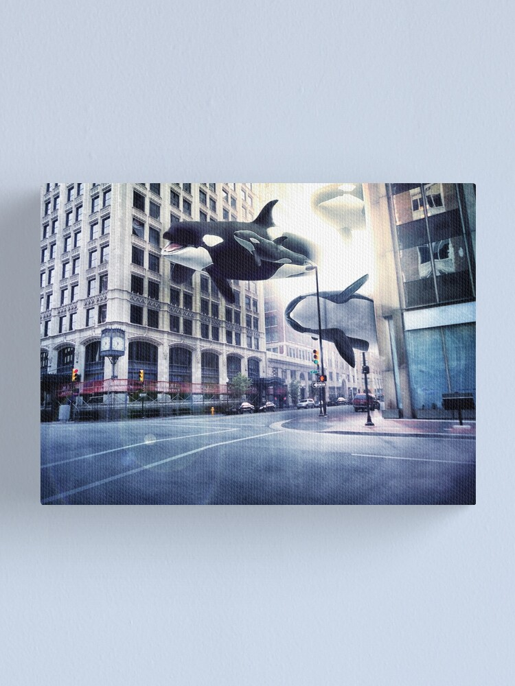 Alternate view of City of whales Canvas Print