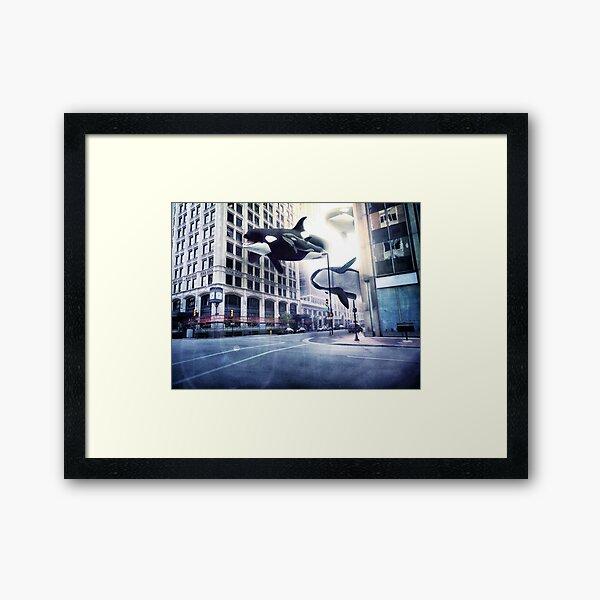 City of whales Framed Art Print