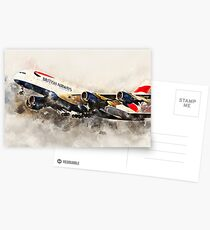 Britisah Airways A380 - Painitng Postcards