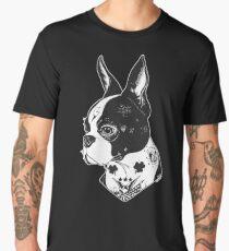Tattooed Boston Terrier  Men's Premium T-Shirt