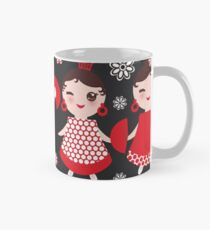 Flamenco dancers on black Mug