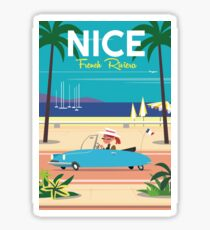 NIce-French Riviera poster Sticker