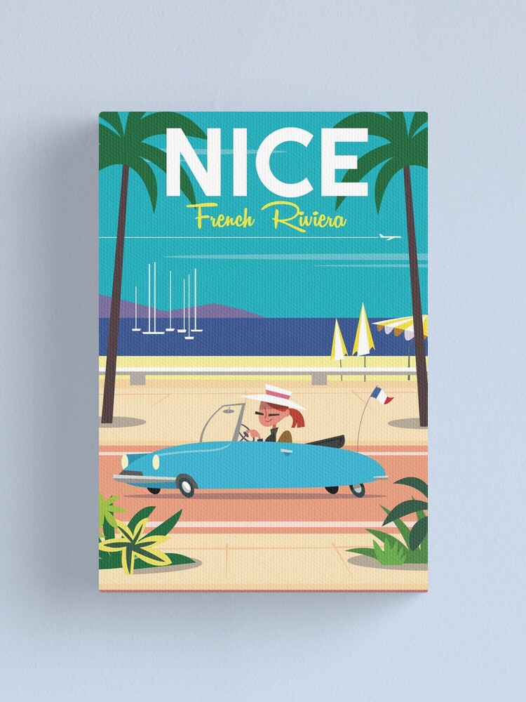 Alternate view of NIce-French Riviera poster Canvas Print