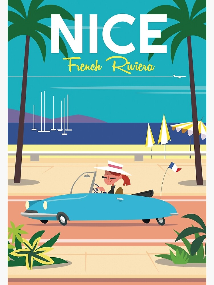 NIce-French Riviera poster by GAGodel