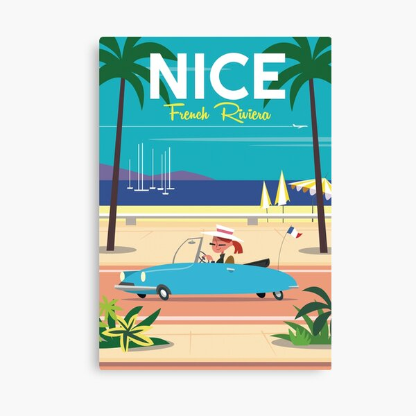 NIce-French Riviera poster Canvas Print