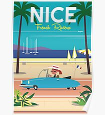NIce-French Riviera poster Poster