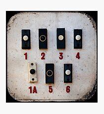 Blackpool Doorbells Photographic Print
