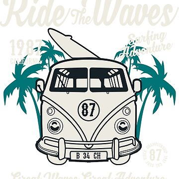 Ride The Waves Surf - Great Waves, Great Adventure T Shirt by eaglestyle