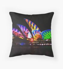 Sydney Opera House - Vivid Throw Pillow