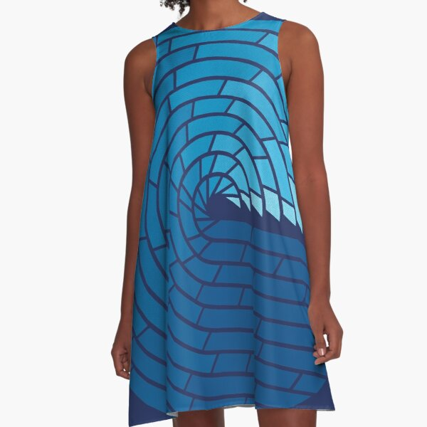 Almighty Ocean A-Line Dress