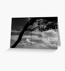 When you reach the end of your rope, tie a knot in it and hang on. Greeting Card