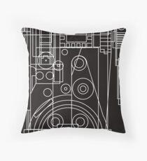 Postitron collider (proton pack) blueprint Throw Pillow