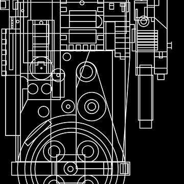 Postitron collider (proton pack) blueprint by zombie1