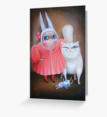 """Together forever 31"""" x 24"""". Original Painting - Sold Greeting Card"""