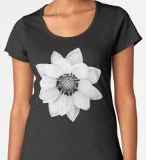 Black and White Gazania [Print and iPhone / iPad / iPod Case] Women's Premium T-Shirt