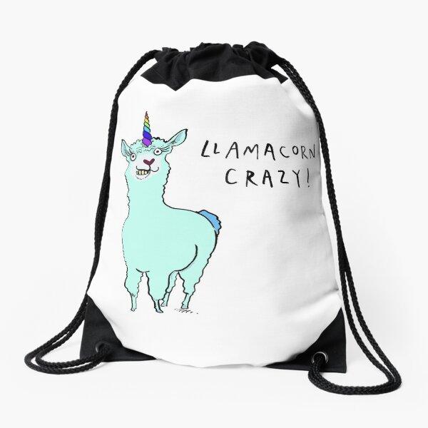 Llamacorn Crazy! Drawstring Bag