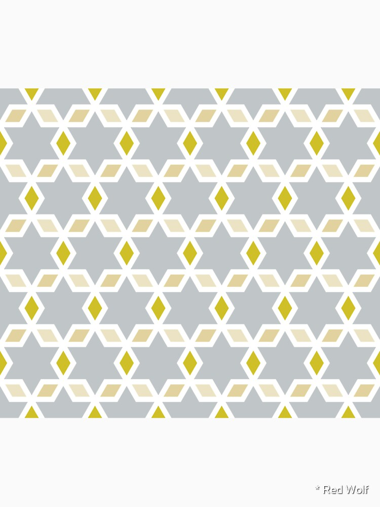 Geometric Pattern: Hexagon Star Diamond: Grey by redwolfoz