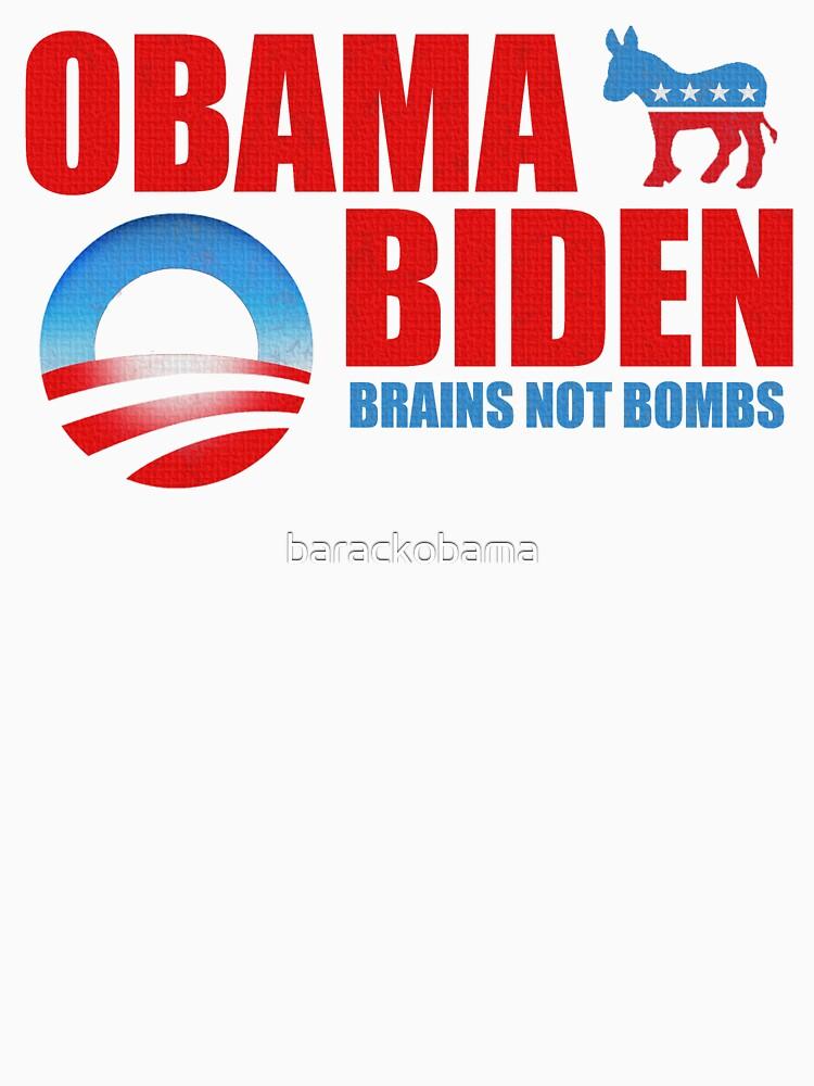 Obama Biden Brains not Bombs t shirt by barackobama