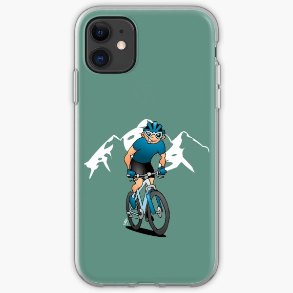 MTB - Mountain biker in the mountains iPhone Soft Case