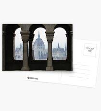 Budapest arches view Postkarten