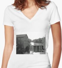 Dells Mill Women's Fitted V-Neck T-Shirt