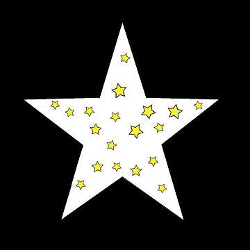 der kleine sterne prinz - 24 big star black von RMBlanik