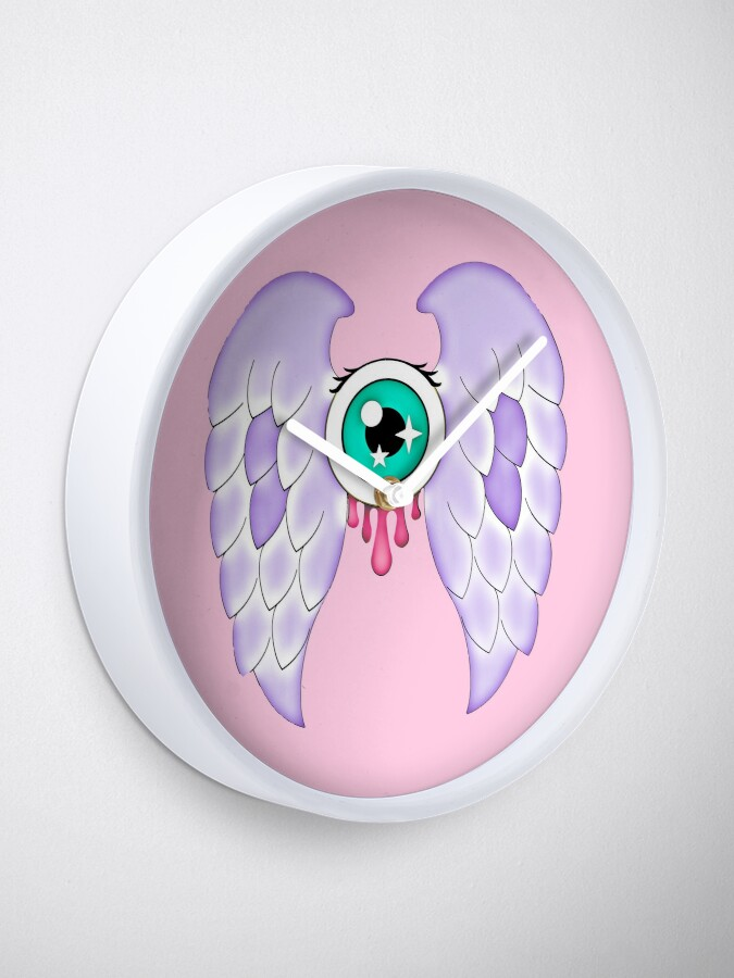 Alternate view of Pastel Goth | Winged Eye | Pink Clock