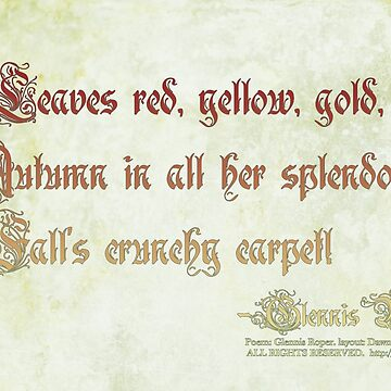 Leaves red, yellow, gold haiku by PoemsProseArt