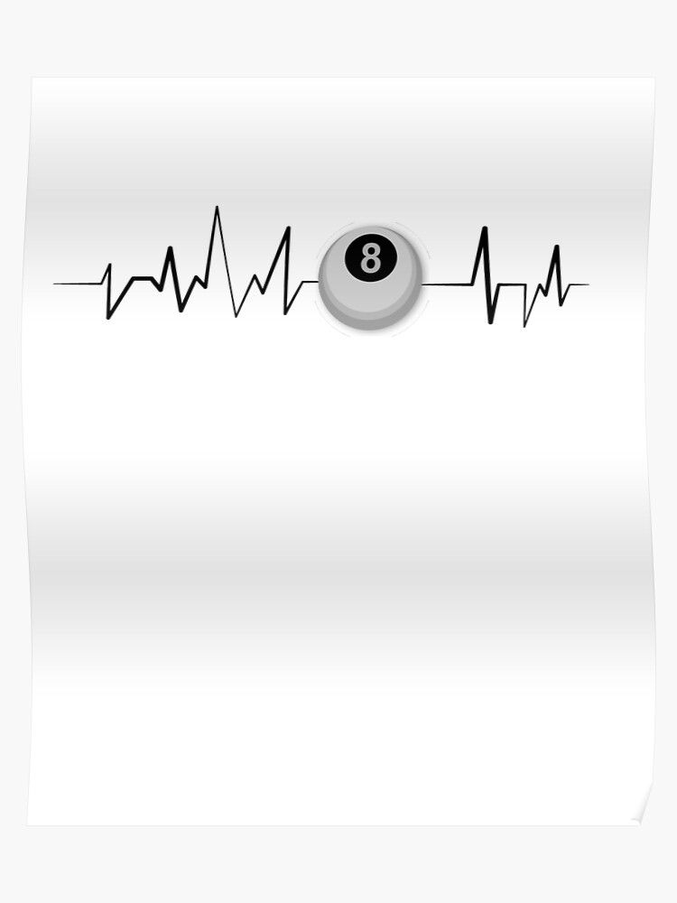 8 Eight Ball Heartbeat Funny Billiards Gif | Poster