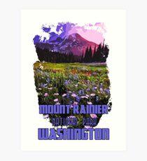 Washington, Mount Rainier National Park Art Print