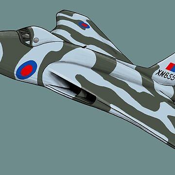 Avro Vulcan Bomber by yeomanscarart