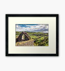 Abandoned Famine Cottage, Ring of Kerry, Ireland  Framed Print
