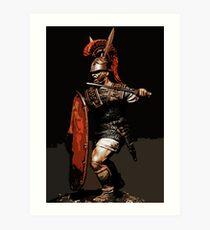 Roman Legionary at War Art Print