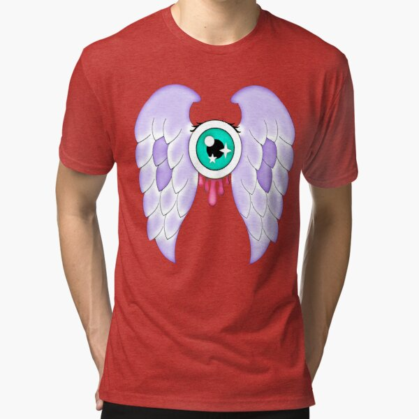 Pastel Goth | Winged Eye | Light Grey Tri-blend T-Shirt