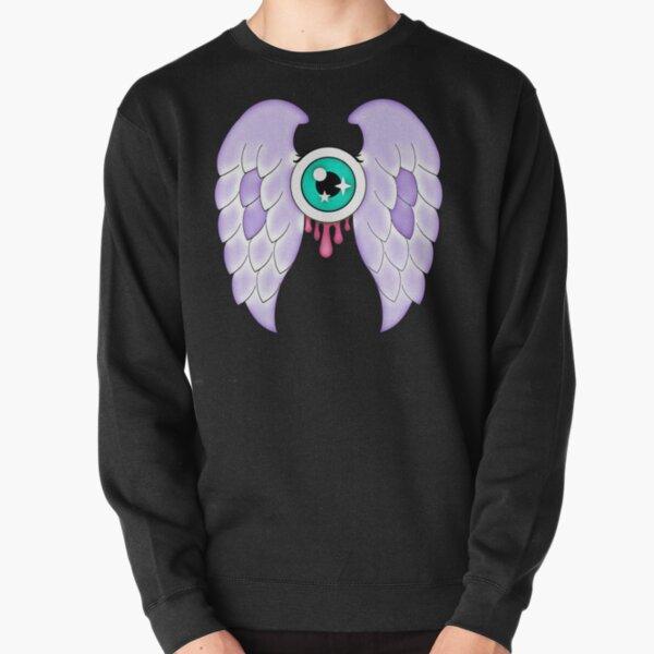 Pastel Goth | Winged Eye | Black Pullover Sweatshirt