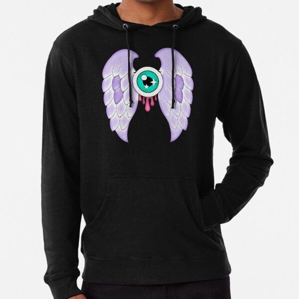 Pastel Goth | Winged Eye | Black Lightweight Hoodie