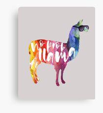 No Probllama Llama Canvas Print