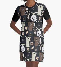 Bears of the world pattern Graphic T-Shirt Dress
