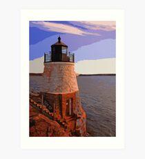 Castle Hill Lighthouse, Newport, Rhode Island Art Print