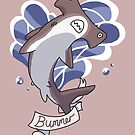 Bummer Shark by C.C Art