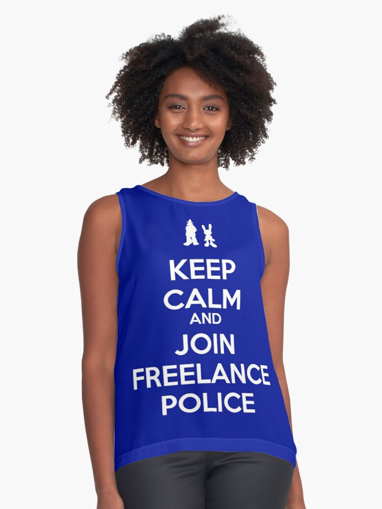 Keep Calm - Freelance Police Contrast Tank Front