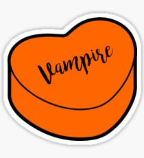 Love Vampire |  Orange Halloween Heart Candy | Conversation Sticker