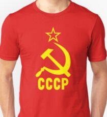 Sowjetische kommunistische CCCP Hammer & Sichel Slim Fit T-Shirt