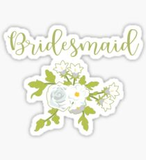 Bridesmaid Design Sticker