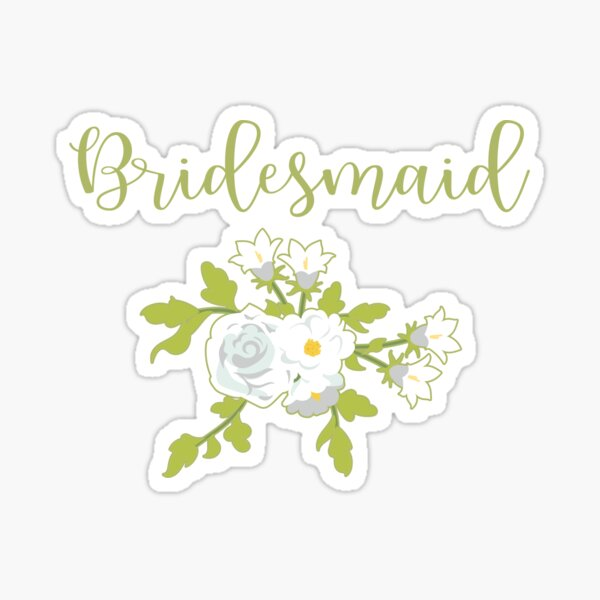 Bridesmaid Design Pegatina