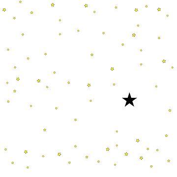 der kleine sterne prinz - 25 sterne B groß von RMBlanik